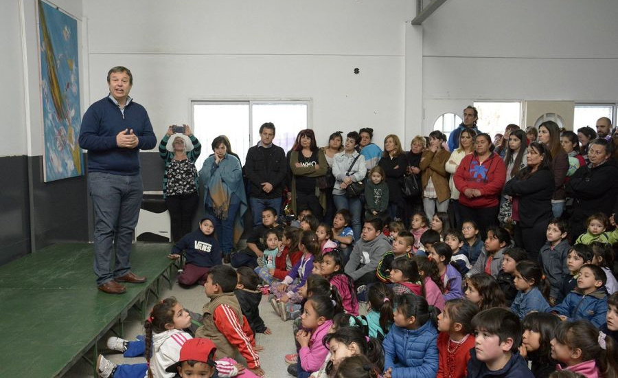 Cascallares recorrió obras del Municipio en la Unidad de Fortalecimiento Familiar
