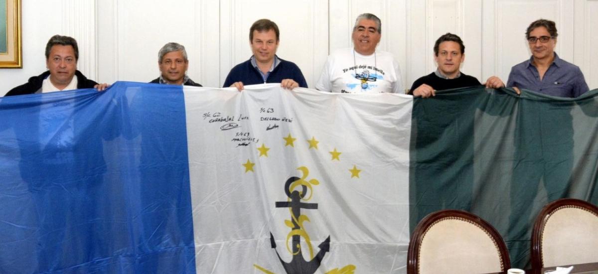 El intendente recibió a ex combatientes que volvieron a Malvinas con ayuda del Municipio