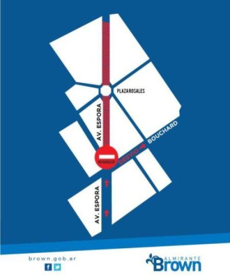 Por una obra de AySA, reordenan el tránsito en un tramo de la avenida Espora