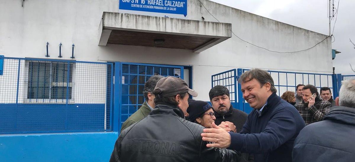Cascallares supervisó el nuevo sistema seguridad en el Caps 16 de Rafael Calzada
