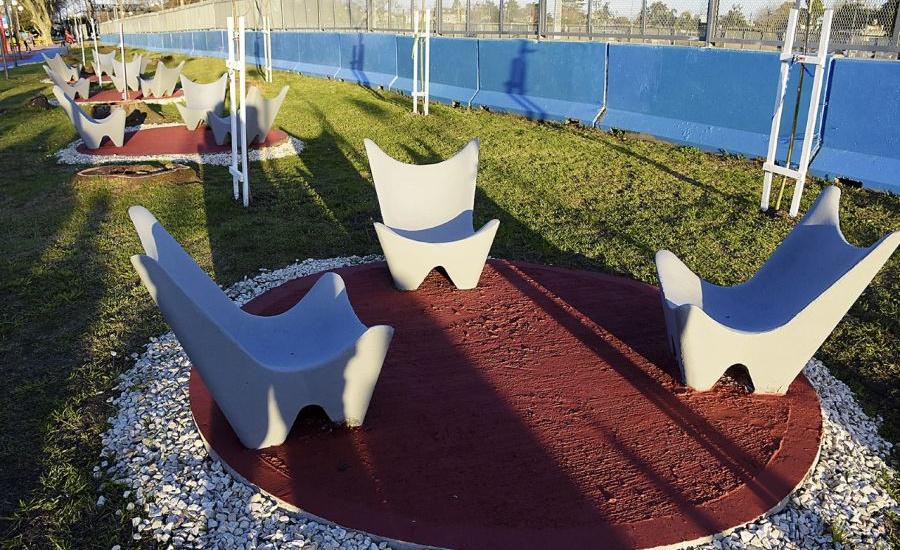 Cascallares inauguró las obras de puesta en valor en el paseo Los Abuelos de Calzada