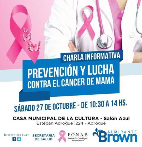 Jornada de concientización contra el cáncer de mama en Alte Brown