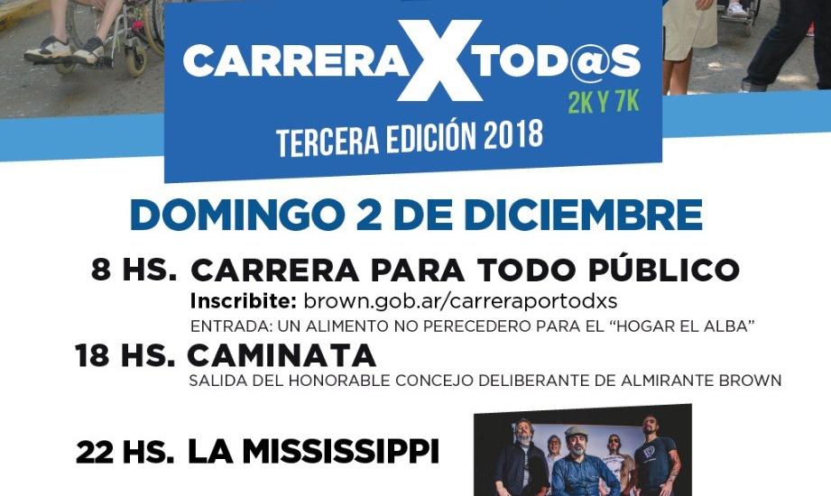 """En el Día de la Discapacidad, el Municipio invita a participar de la """"Carrera x tod@s"""""""