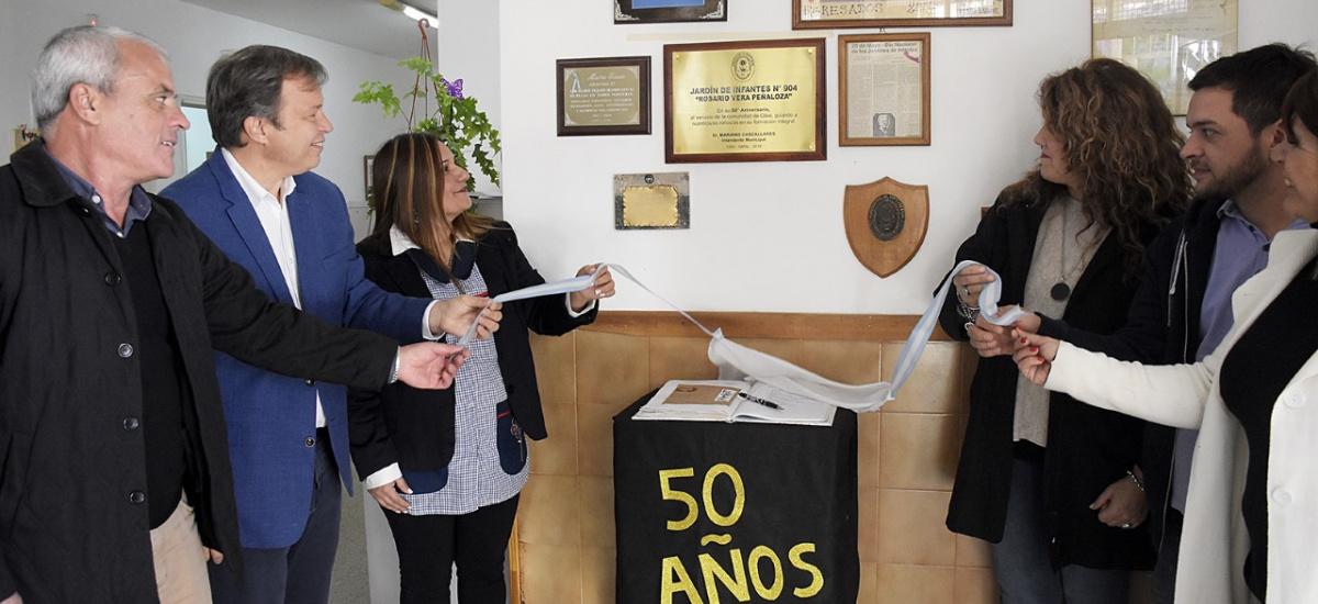Cascallares acompañó los festejos por el 50° aniversario del Jardín N° 904 de Glew