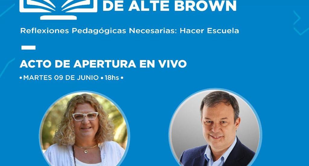 En Alte Brown debaten cómo será la escuela post pandemia de covid-19