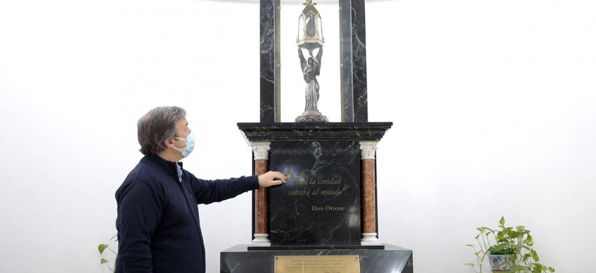 Cascallares recordó los 20 años de la llegada del Corazón de Don Orione