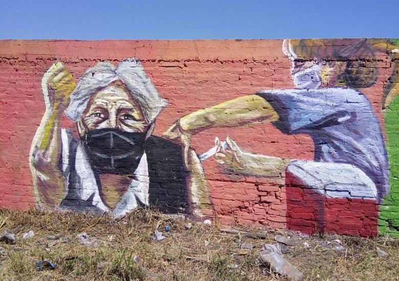 El Instituto de las Culturas presentó un mural en homenaje a los trabajadores esenciales
