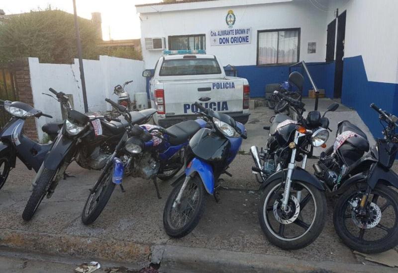 """Once motos secuestradas en exitoso operativo para evitar la modalidad """"motochorros"""""""