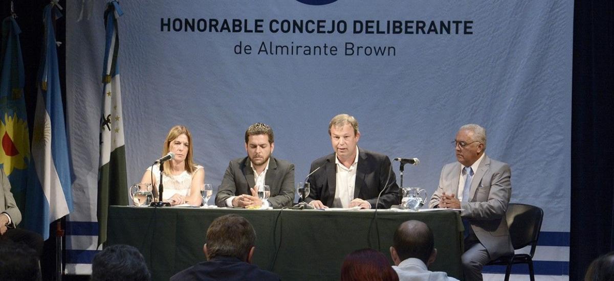 Apertura de Sesiones Ordinarias del Concejo Deliberante de Almirante Brown
