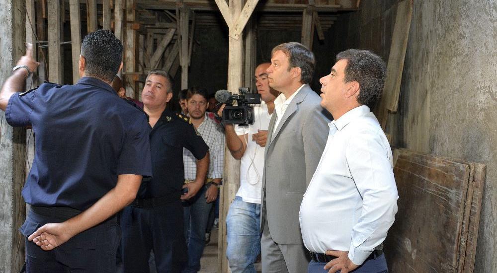 CASCALLARES Y RITONDO SUPERVISARON OBRAS EN LA COMISARÍA 1ra. DE ADROGUÉ