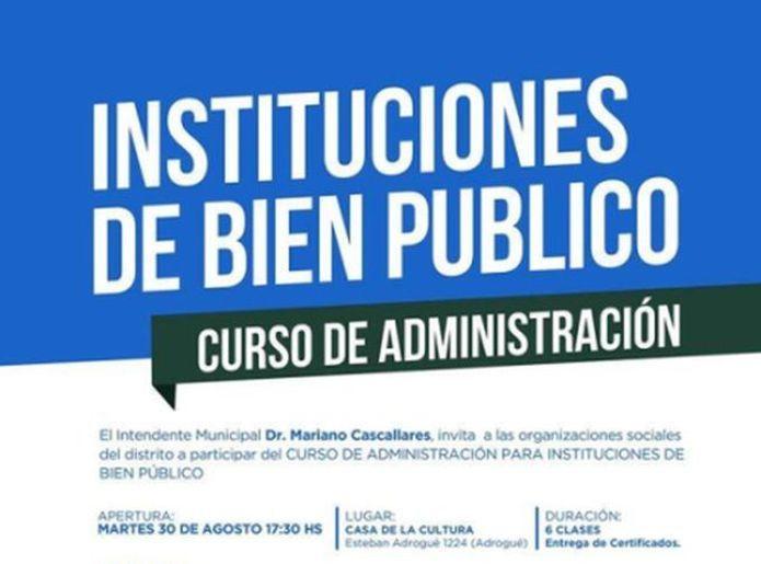 Curso de administración de entidades de bien público