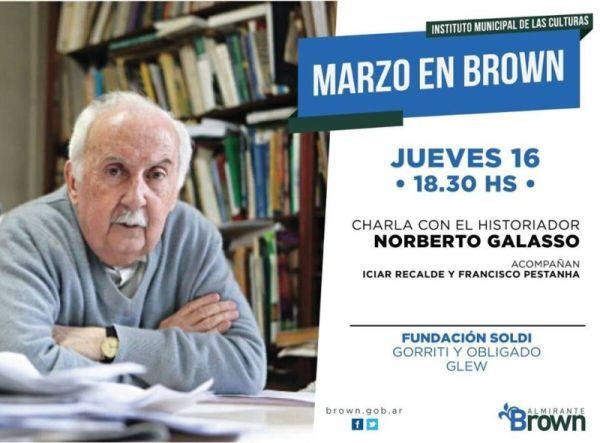 Norberto Galasso disertará en Glew