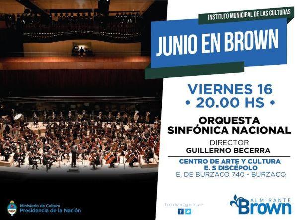 La orquesta sinfónica nacional se presenta esta noche en Burzaco