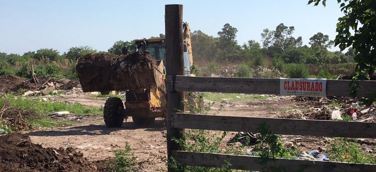 El municipio previene vuelcos clandestinos de residuos detrás del ex hogar Israelita
