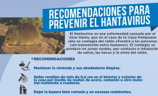 El municipio lanzó recomendaciones para prevenir casos de Hantavirus