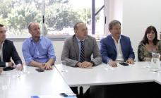 Cascallares encabezó encuentro sobre seguridad con Sergio Berni y 12 intendentes en el COM de Alte Brown